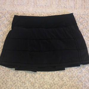 Lululemon pace rival skirt black size 4